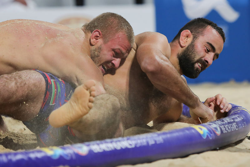 Beach Wrestling men's 80kg - finals gold medal
